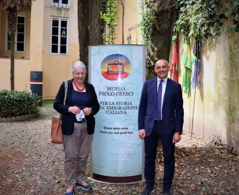 la neopresidente prof. Marchi con il presidente Menesini