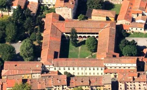 Vista aerea del complesso di San Nicolao
