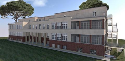 Ecco come sarà l'edificio principale della scuola dopo i lavori