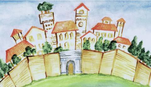 Disegno della locandina del Festival della Fiaba