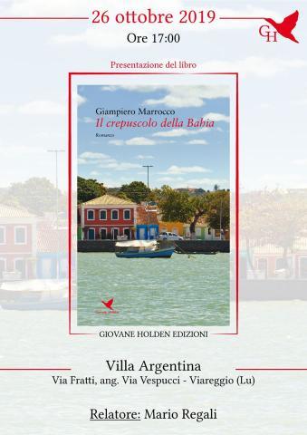 """Invito alla presentazione del libro """"il crepuscolo della Bahia"""""""