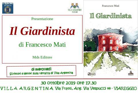 Invito alla Presentazione del libro il Giardinista 30 ottobre