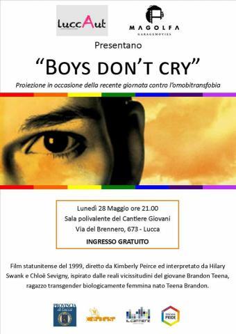 Locandina proiezione Boys don't cry