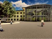 Il rendering del nuovo padiglione del Vallisneri