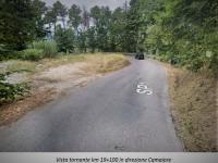 La curva della sp 1 Francigena a Monte Magno che sarà allargata