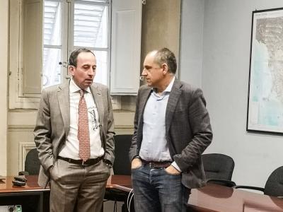 Il prefetto Esposito e il presidente Menesini