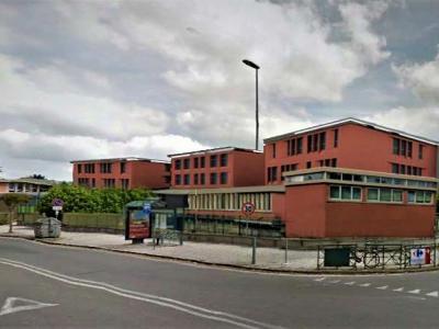 il rendering della scuola a lavori finiti nei tre blocchi dell'edificio