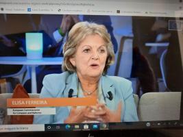 a Commissaria europea per la Coesione e le riforme Elisa Ferreira