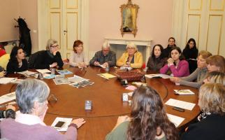 la sala giunta con i partecipanti alla presentazione