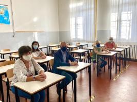 l'incontro-sopralluogo al liceo Carducci di Viareggio