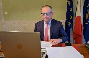 il presidente Menesini in videoconferenza