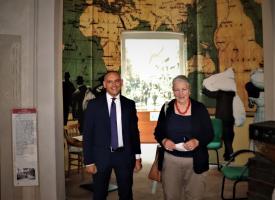 Marchi e Menesini all'interno del museo Cresci
