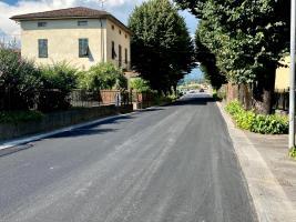Recenti lavori di asfaltatura sulla sp 1 Francigena